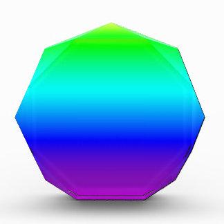 Multi color gradient acrylic award
