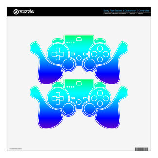 Multi color gradient decal for PS3 controller