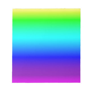 Multi color gradient notepad