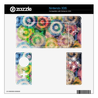Multi Color Grunge Circles Pattern Decals For 3DS