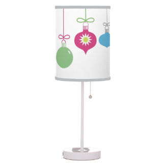 Multi Color Hanging Ornament Table Lamp