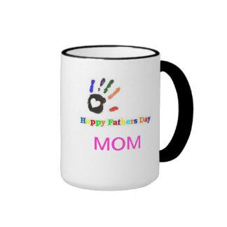 Multi-Color Happy Fathers Day Mom Mug