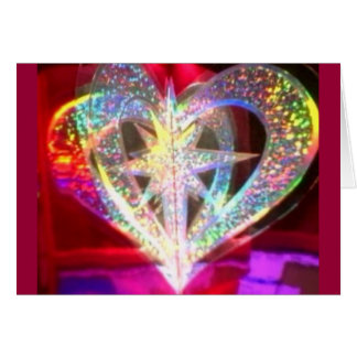Multi Color Heart Greeting Card