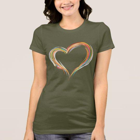Multi Color Heart Shape T-Shirt