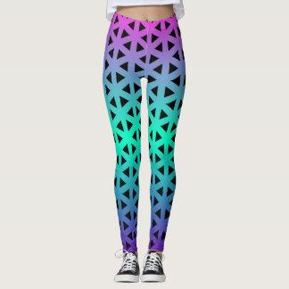 Multi-Color Hex Pattern Leggings