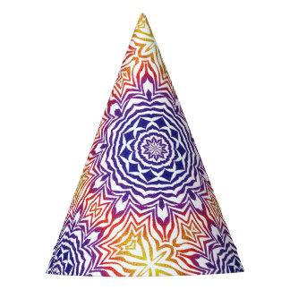 Multi-Color Kaleidoscope Tile Party Hat