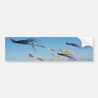 Multi Color Kites Paint the sky Bumper Sticker