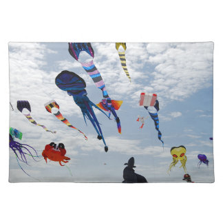 Multi Color Kites Painting the sky Placemat