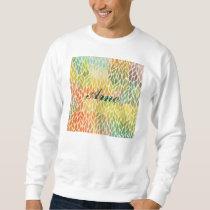 multi color leaf pattern,trendy,abstract art,hip sweatshirt