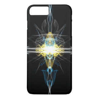 Multi color light in space design iPhone 7 plus case