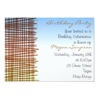 Multi color Line Modern Design Birthday Invitation