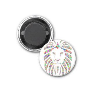 Multi-color Lion Face Magnet