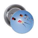 Multi Color Long Tail Kites Pin