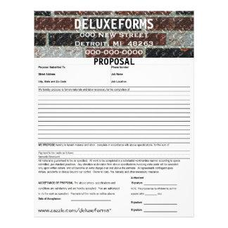 Multi-Color Marble Brick Proposal Form Letterhead