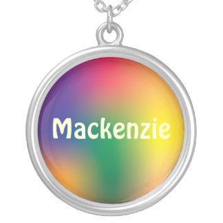 Multi Color Marble Name Necklace