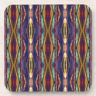 Multi-Color Masculine Tribal Pattern Beverage Coaster
