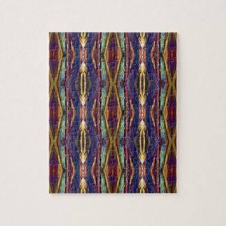 Multi-Color Masculine Tribal Pattern Jigsaw Puzzle