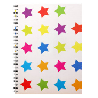 Multi Color Multi Stars NoteBook