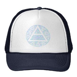 Multi-Color Mystic Triad Platos Air Symbol Hat