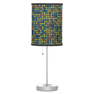 Multi-color ovals table lamp