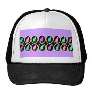Multi-Color Pastel Purple Gold Cats Pattern Trucker Hat