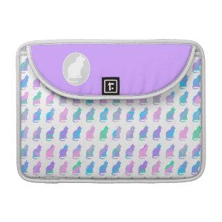 Multi-Color Pastel & Purple Swirls Cats Pattern Sleeve For MacBooks