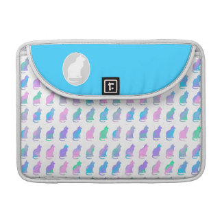 Multi-Color Pastel & Turquoise Swirls Cats Pattern Sleeves For MacBooks