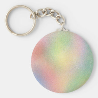 multi color pastels basic round button keychain