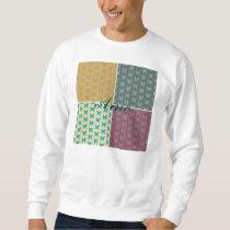multi color & pattern girly trendy retro butterfly sweatshirt
