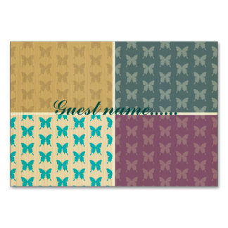 multi color & pattern girly trendy retro butterfly table cards