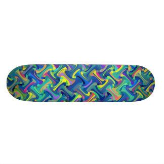 Multi-Color Pattern Skateboard Deck