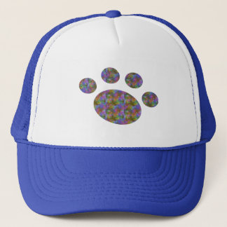 Multi Color Paw Hat