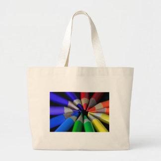 Multi Color Pencils Large Tote Bag