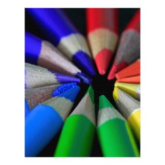 Multi Color Pencils Letterhead