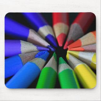 Multi Color Pencils Mouse Pad