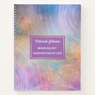 Multi Color Personalized Outer Space Starfield Notebook