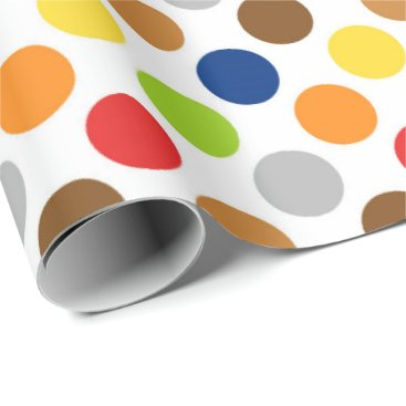 Beach Themed Multi color polka dot any purpose wrap wrapping paper