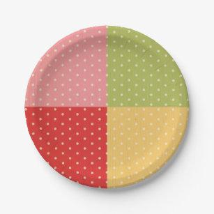 multi color polka dot country shabby chic trendy paper plate  sc 1 st  Zazzle & multi color polka dot country shabby chic trendy paper plate