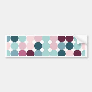 multi color,polka dot,fun,trendy,fun,girly,happy, car bumper sticker