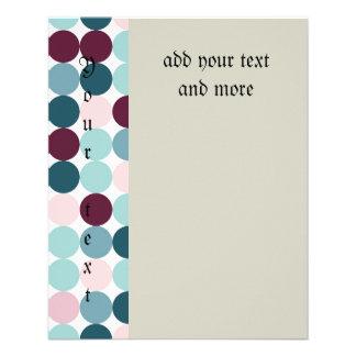"multi color,polka dot,fun,trendy,fun,girly,happy,r 4.5"" x 5.6"" flyer"