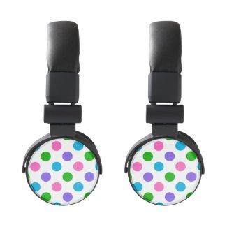 Multi Color Polka Dots Headphones