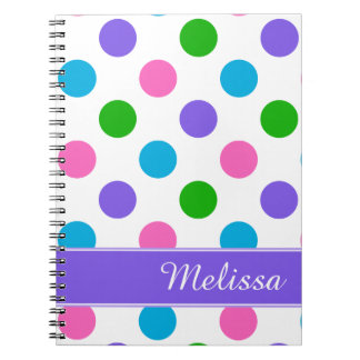 Multi Color Polka Dots Notebook