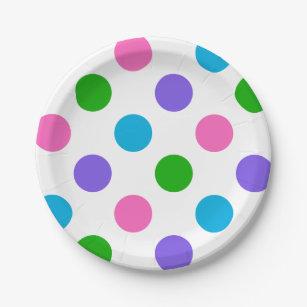 Multi Color Polka Dots Paper Plate  sc 1 st  Zazzle & Multi Color Polka Dots Paper Plate