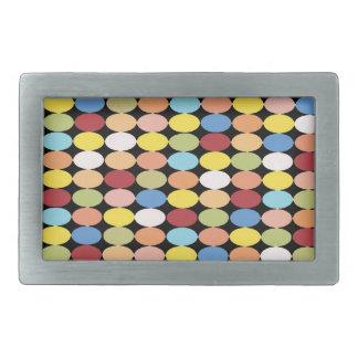 Multi Color Polka Dots Rectangle Belt Buckle