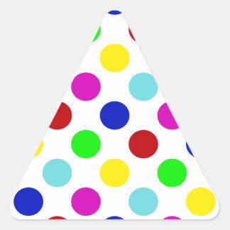 Multi Color Polka Dots Triangle Sticker