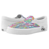 Multi Color Print Women's Zipz Slip-On Sneakers
