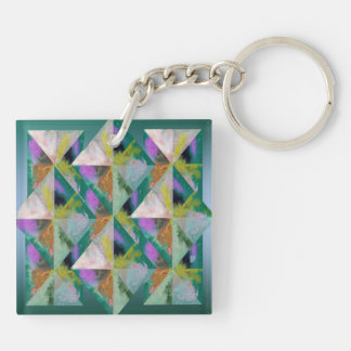 Multi-Color Prisms Keychain