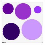 Multi-Color Purple Circles Wall Decals