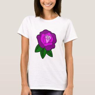 multi-color- purple rose t-shirt