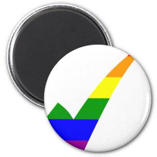 Multi-Color Rainbow Check Mark Magnet